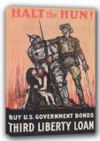 Halt the Hun! But U.S. Government Bonds. Wartime/Military Canvas. Sizes: A4/A3/A2/A1 (001635)